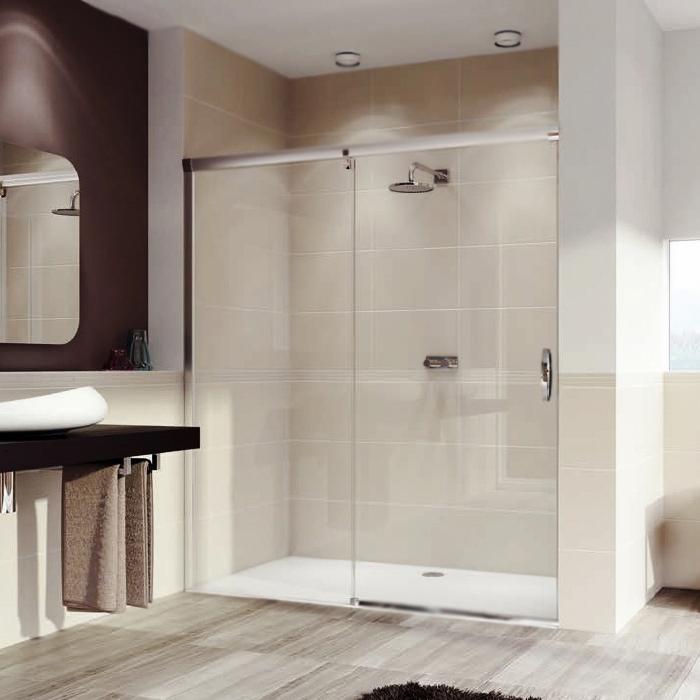 Душевая дверь в нишу Huppe Aura Elegance 110 401413.092.322.730 Профиль хром, стекло прозрачное, левая