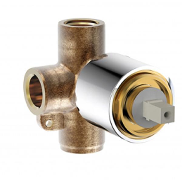Drop Stream D999CP-ENG G 1/2Смесители<br>Внутренняя часть Bravat Drop Stream D999CP-ENG для встраиваемого смесителя. Под один поток воды. Материал: латунь, цвет: хром.  Стандарт подводки 1/2.  Инструкция и гарантийный талон в комплекте.<br>