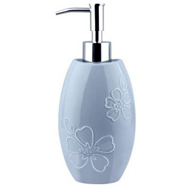 Werra K-8299 СинийАксессуары для ванной<br>Дозатор для жидкого мыла Wasser Kraft Werra K-8299 изысканной и утонченной формы станет изящным украшением вашей ванной комнаты. Изделие украшено нежным цветочным орнаментом.<br>Материал: фарфор<br>Размер: 9x7.9x19.8 см<br>