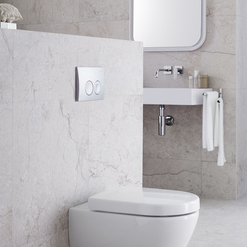 Кнопка смыва Geberit Delta 21 115.125.21.1 хром мебель в ванную альтаир