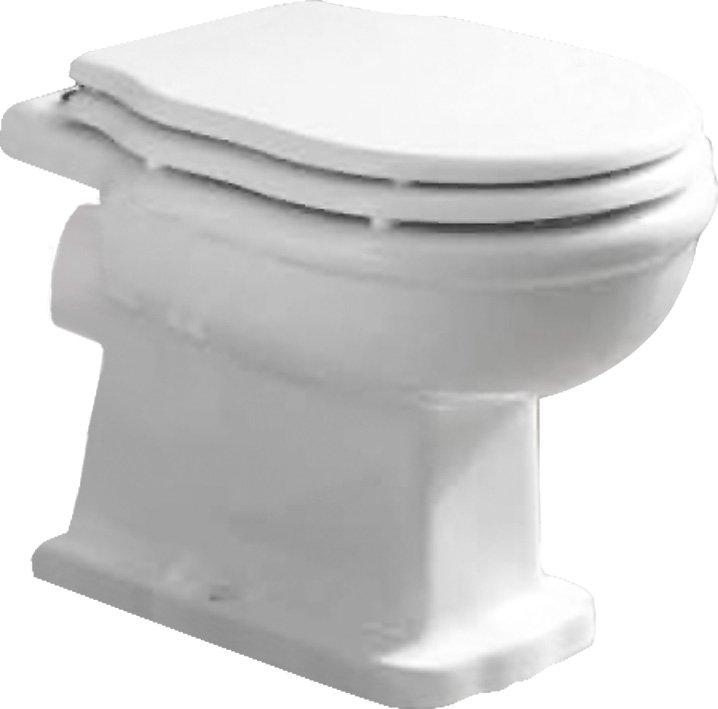 Boheme P trap BB115CB без сиденьяУнитазы<br> Унитаз приставной BelBagno Boheme P trap BB115CB напольный. Дизайн элегантный в стиле ретро, также подойдет и в ванную комнату, оформленную в классическом стиле, прованс или кантри. <br><br> Горизонтальный выпуск P trap.<br>Слив по всему периметру чаши.<br>Стойкость цвета на долгие годы.<br>Гладкая поверхность.<br>Крепление к полу.<br> В комплекте поставки чаша унитаза.<br>