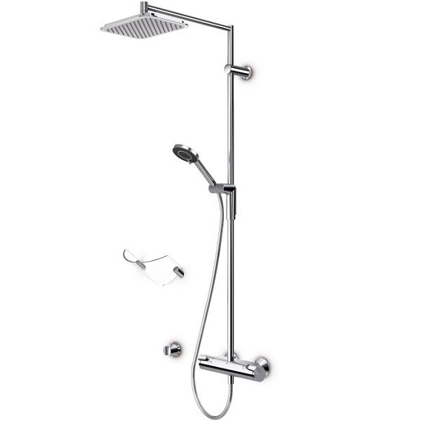 Optima 7192U ХромДушевые гарнитуры<br>Душевая стойка Oras Optima 7192U с верхним душем.<br>Верхний душ с насадкой Rain Shower. Поток воды, напоминающий теплый дождь.<br>Особенности:<br>Защита от известкового налета,<br>Эко-режим EcoFlow для эффективной экономии воды,<br>Грязевой фильтр.<br>
