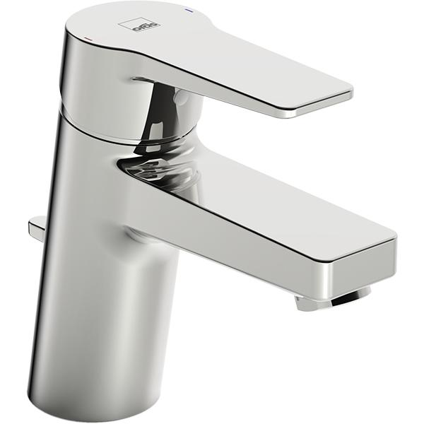 Twista 3804F ХромСмесители<br>Смеситель для раковины Oras Twista 3804F.<br>Особенности:<br>Функция ограничения температуры и напора воды,<br>Рычажный донный клапан,<br>Цельная рукоятка.<br>