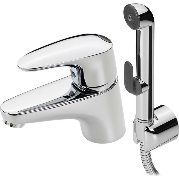 Vega 1812F ХромСмесители<br>Смеситель для раковины Oras Vega 1812F с гигиеническим душем.<br>Длина шланга ручного душа: 150 см.<br>Особенности:<br>Ручной гигиенический душ с настенным держателем,<br>Рычажный донный клапан,<br>Эко-кнопка для ограничения температуры и расхода воды,<br>Аэратор.<br>