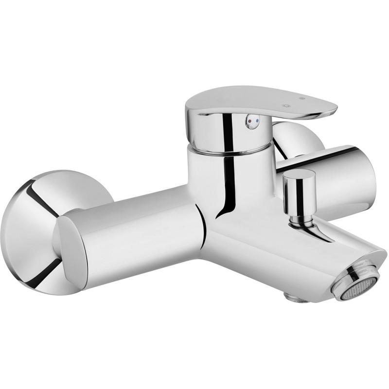 Dynamic S A40953EXP ХромСмесители<br>Смеситель для ванны и душа Vitra Dynamic S A40953EXP.<br>Особенности: <br>Ограничение напора и температуры воды,<br>Керамический картридж.<br>Переключатель ванна-душ с возможностью фиксации.<br>В комплекте поставки: <br>Смеситель. <br>