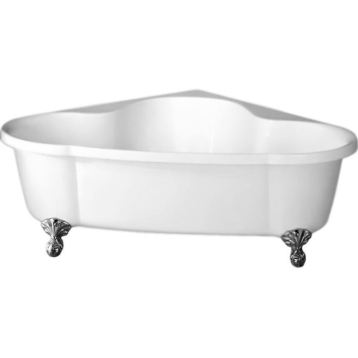 BB07 150x150 с ножками БронзаВанны<br>Угловая акриловая ванна BelBagno BB07-BRN 150x150 в форме четверти круга, на фигурных ножках бронзового цвета.<br>Материал: высококачественный листовой акрил.<br>Прочность в сочетании с малым весом.<br>Эффективное звукопоглощение.<br>Неприхотливость в уходе.<br>Гладкая и не скользкая поверхность.<br>Акрил быстро нагревается и долго сохраняет тепло.<br>С первого прикосновения чувствуется тепло из-за низкой теплопроводности.<br>Диаметр сливного отверстия: 5,5 см.<br><br><br>В комплекте поставки:<br>чаша ванны; <br>комплект ножек BB-LEG07-BRN;<br>комплект кронштейнов для крепления ножек.<br><br>