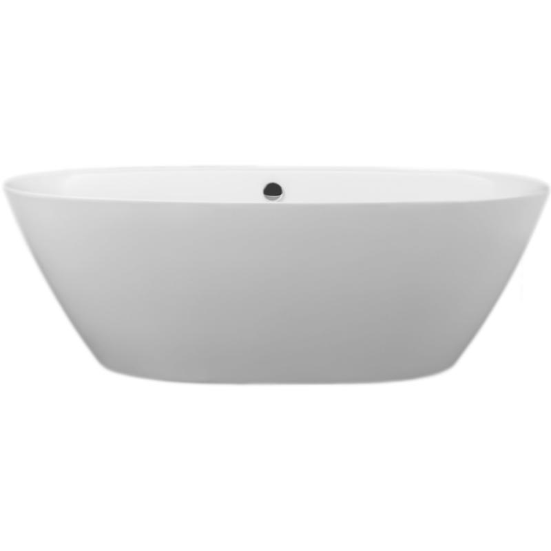 BB68 180x90 без гидромассажаВанны<br>Акриловая ванна BelBagno BB68-1800 180x90 отдельностоящая, овальная, с удобным наклоном для спины с двух сторон.<br>Материал: высококачественный листовой акрил.<br>Прочность в сочетании с малым весом.<br>Эффективное звукопоглощение.<br>Неприхотливость в уходе.<br>Гладкая и не скользкая поверхность.<br>Акрил быстро нагревается и долго сохраняет тепло.<br>С первого прикосновения чувствуется тепло из-за низкой теплопроводности.<br>Регулировка ножек для компенсации неровностей поверхности пола.<br>Расположение слива: в центре.<br>Диаметр сливного отверстия: 5 см.<br><br><br>В комплекте поставки:<br>чаша ванны; <br>комплект ножек;<br>слив-перелив цвета хром.<br><br>