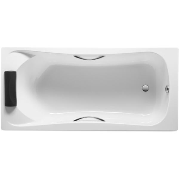 BeCool 170x80 с ручками без гидромассажаВанны<br>Акриловая ванна Roca BeCool 170x80 ZRU9302852 прямоугольная, с готовыми отверстиями для ручек, с удобным наклоном для спины.<br>Органичные линии и формы.<br>Материал: акрил.<br>Прочность в сочетании с малым весом.<br>Эффективное звукопоглощение падающей воды.<br>Гладкая, не скользкая и теплая на ощупь поверхность.<br>Акрил быстро нагревается и долго сохраняет тепло.<br>Простота в уходе.<br>Расположение слива: в ногах.<br>Диаметр сливного отверстия: 5,2 см.<br>Объем: 225 л.<br>Вес: 25 кг.<br><br>В комплекте поставки:<br>чаша ванны.<br><br>