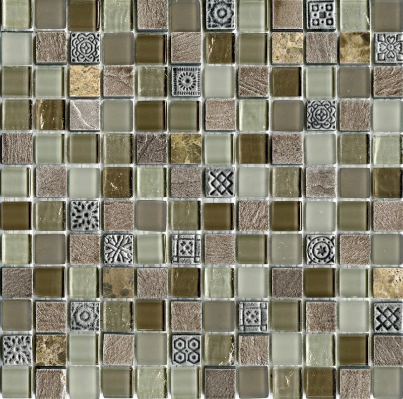 Мозаика L Antic Colonial Mosaico Tecno Glass Country 29,6х29,6 см мозаика l antic colonial mosaico eternity mini strip emperador 29 8х30 5 см