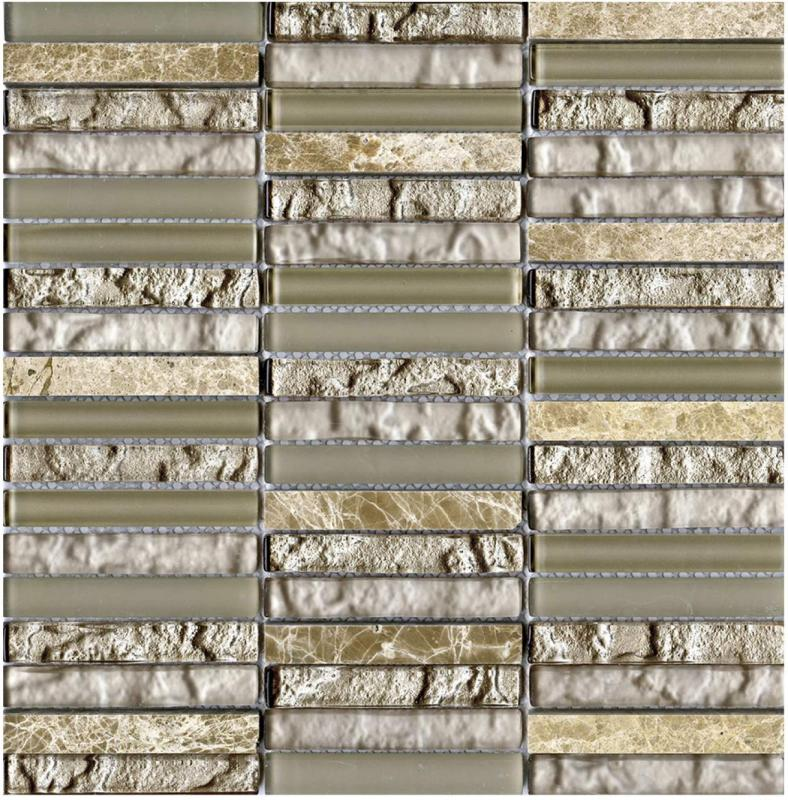 Мозаика L Antic Colonial Mosaico Tecno Linear Cream Capuccino 29,8х30,5 см