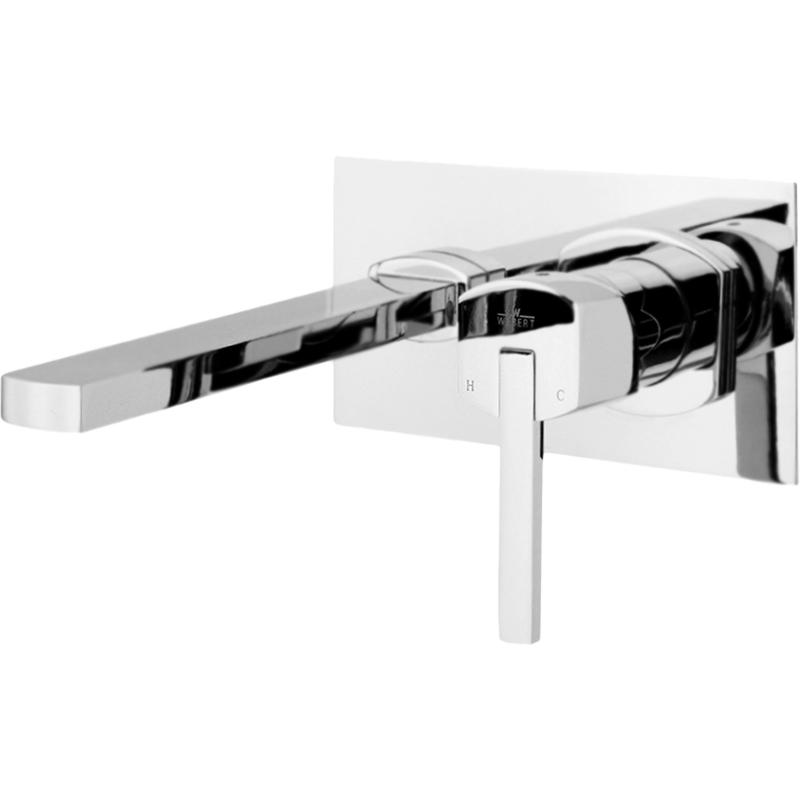 Azeta New AA830606 Хром глянцевыйСмесители<br>Настенный смеситель для раковины и раковины-чаши Webert Azeta New AA830606015 однорычажный, с аэратором, встраиваемый.<br>Покрытие: глянцевый хром.<br>Материал: качественная латунь с минимальным процентом свинца: &amp;lt;0.2%.<br>Защита от царапин, влаги и воздействия окружающей среды.<br>Состав материала соответствует международным нормам.<br>Фиксированный излив: 18 см.<br>Аэратор: M22x1.<br>Керамический картридж: D 35 мм.<br>Картридж оснащен механизмом контроля потока воды и температуры.<br>Механическая настройка эксплуатационных параметров.<br>Стандарт подключения: G 1/2.<br><br>В комплекте поставки:<br>внешняя часть смесителя; <br>внутренняя часть смесителя; <br>комплект креплений.<br><br>