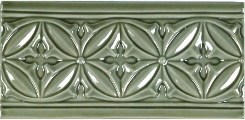 Керамический бордюр Adex Studio Relieve Gables Eucalyptus 10х19,8 см