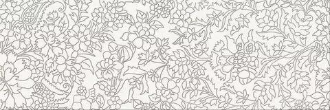 Керамический декор Mei Pret-a-Porte White Iserto Flower O-PRP-WIU051 25х75 см