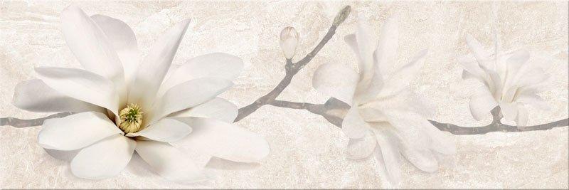 Керамический декор Mei Stone Flowers бежевый O-SNF-WIU011-32 25х75 см керамическая плитка mei mirror stone flowers stone grey o snf wtu091 настенная 25х75 см