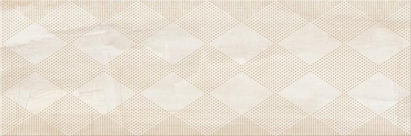 Керамический декор Mei Simple stone Inserto Geo В O-SIP-WIU011-16 бежевый 25х75 см