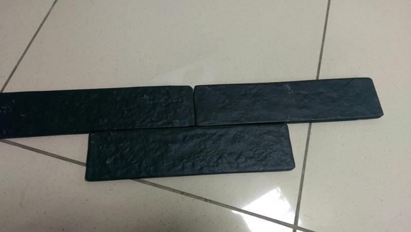 Керамическая плитка Golden Tile The Strand черная настенная 25x6 см