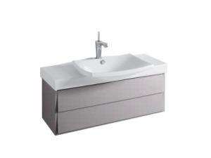 Escale EB760-N21 серый титанМебель для ванной<br>Jacob Delafon Escale EB760-N21 тумба под раковину Е1280 в сером цвете. Тумба изготавливается с двумя органайзерами из пено-материала, одним плавно закрывающимся ящиком вверху, одним плавно закрывающимся ящиком внизу.<br>