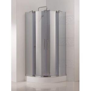 Lux R2 90x90 Глянцевый хромДушевые ограждения<br>Радиальный, радиус 550 мм. Две раздвижные. 8 мм прозрачное стекло. Поддон приобретается отдельно.<br>