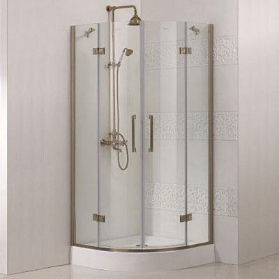 Magic R2 100x100 БронзаДушевые ограждения<br>Радиальный, радиус 550 мм. Две распашные двери. 8 мм прозрачное стекло.<br>