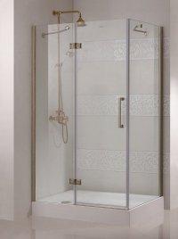 Magic AH1 80x90  R золотоДушевые ограждения<br>Прямоугольный. Одна распашная дверь. 8 мм прозрачное стекло.<br>
