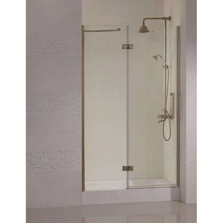 Magic B12 120 L золотоДушевые ограждения<br>Одна распашная дверь и фиксированное стекло. Прозрачное стекло.<br>