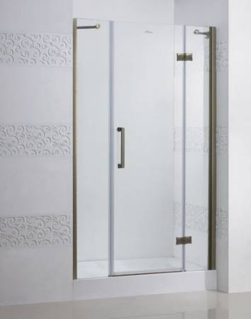 Magic B13 80+60/60 R золотоДушевые ограждения<br>Одна распашная дверь и два фиксированное стекло. Прозрачное стекло.<br>