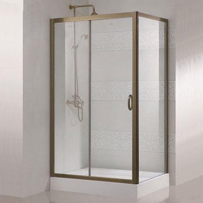 Modena AH1 90x120  L золото прозрачное стеклоДушевые ограждения<br>Прямоугольный. Одна раздвижная дверь.<br>
