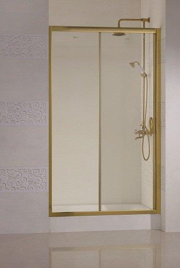 Modena BF1 120 R золото текстурное стеклоДушевые ограждения<br>Одна раздвижная дверь.<br>