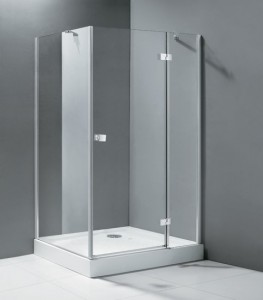 Crystal AH1 90x80 Правое исполнение хромДушевые ограждения<br>Прямоугольный. Одна распашная дверь.<br>