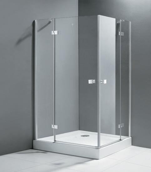 Crystal AH2 100x90 L хромДушевые ограждения<br>Прямоугольный. Две распашные двери.<br>