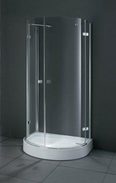 Crystal O2 100x85 ХромДушевые ограждения<br>Полукруглое. Две распашные двери.<br>