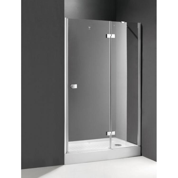 Crystal B12 120 L хромДушевые ограждения<br>Прямоугольная. Одна распашная дверь с одним неподвижным стеклом.<br>