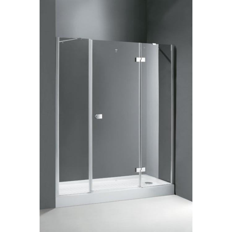 Crystal B13 60+60/40 R хромДушевые ограждения<br>Прямоугольная. Одна распашная дверь с двумя неподвижными стеклами.<br>
