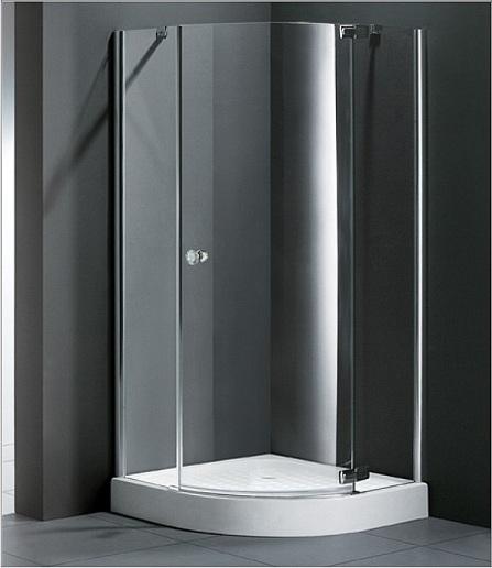 Electra R1 90x90 L текстурное стеклоДушевые ограждения<br>Радиальный, радиус 550 мм. Одна распашная дверь.<br>