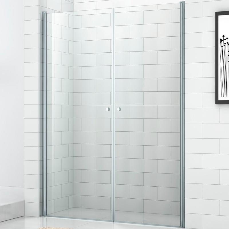 Душевая дверь в нишу Cezares Eco B-2 80 профиль Хром стекло прозрачное