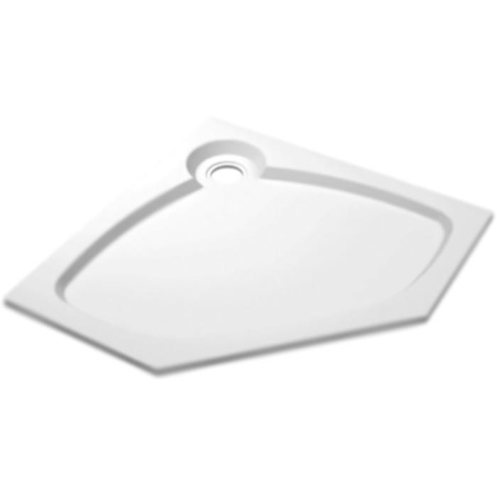 Tray S P 100x100x6 БелыйДушевые поддоны<br>Встраиваемый литой душевой поддон из искусственного мрамора Cezares Tray S P 100x100x6 TRAY-S-P-100-56-W пятиугольный, в форме призмы, низкий.<br>Идеально правильная геометрическая форма.<br>Блестящая поверхность.<br>Материал: экологически чистый искусственный мрамор.<br>Соответствие: ТУ 4940-001-13327487-2014<br>Сертификат соответствия: № РОСС RU.АИ32.Н08857.<br>Покрытие гелькоутом: повышенная прочность, химическая стойкость.<br>Возможность полного восстановления поверхности (сколы, царапины).<br>Допустимые температурные перепады: -40 - +110 градусов.<br>Эффективное звукопоглощение и вибростойкость.<br>Гладкая и теплая на ощупь поверхность.<br>Неприхотливость в уходе.<br>Диаметр сливного отверстия: 9 см.<br>Монтаж: на пол/на подиум.<br>В комплекте поставки:<br>душевой поддон.<br>