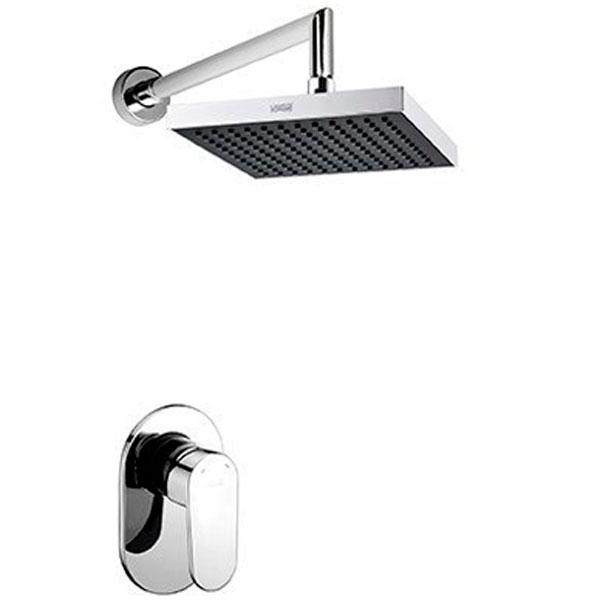 A12028 ХромДушевые системы<br>Душевая система Wasser Kraft A12028.<br>Имеет долгий срок эксплуатации за счет качественных деталей, неприхотлив в уходе. Дополнит любую ванную комнату своей функциональностью и стильной формой конструкции.<br><br>Характеристики:<br>Все детали душевой системы с хромоникелевым покрытием, что надежно защищает от коррозии.<br>Душевая насадка размером 20 х 20 см изготовлена из ABS-пластика со 144 форсунками из силикона с системой защиты от известковых отложений. Насадка крепится к штанге при помощи шарнирного соединителя с сетчатым аэратором для равномерного распределения воды с углом наклона душевой насадки от 0 до 22 градусов.<br>Смеситель для ванны с керамическим картриджем 40 мм, Sedal (Испания), выполнен из латуни.<br>Стандарт подключения: G 1/2.<br><br>В комплекте поставки: верхний душ, кронштейн для верхнего душа, смеситель (внешняя и внутренняя части).<br>