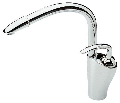 Aventa 5930 ХромСмесители<br>Смеситель для кухни Oras Aventa 5930, однорычажный. Вытягивающийся и поворотный излив, угол поворота может быть 60 или 110 градусов, расход воды 12,6 л/мин.<br>