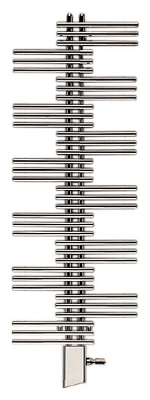 Yucca YSEC-130-060/RD ХромПолотенцесушители<br>Электрический полотенцесушитель Zehnder Yucca YSEC-130-060/RD Chrome однорядный. Цвет - хром. Электропатрон IRVAR с инфракрасным блоком дистанционного управления. Декоративный кожух для электропатрона IRVAR в цвет. Монтажный комплект в цвет полотенцесушителя.<br>