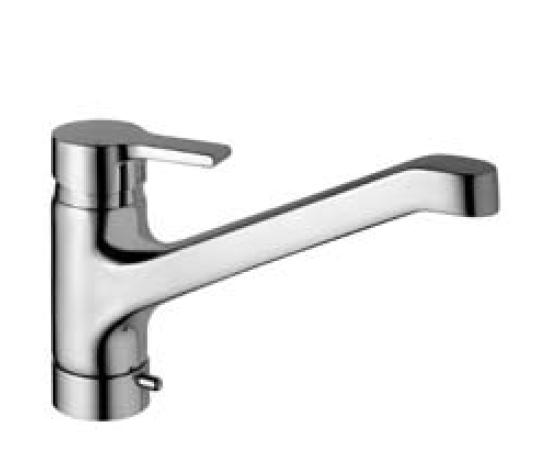 Active B8081AA хромСмесители<br>Смеситель для кухни с клапаном для стиральной машинки Ideal Standard Active B8081AA.<br>- Металлическая рукоятка с индикатором горячей / холодной воды<br>- Металлический донный клапан<br>- Гибкая подводка<br>- Аэратор<br>