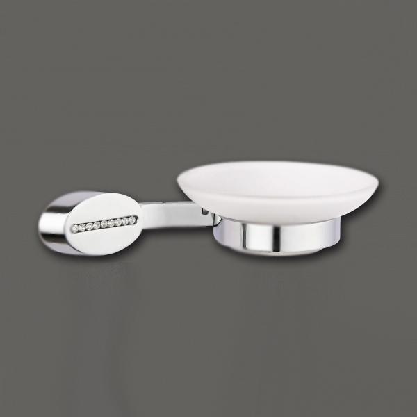 Cristalli AM-4259 ХромАксессуары для ванной<br>Мыльница настенная Art&amp;Max коллекция Cristalli. Емкость для мыла-стекло матовое. Покрытие держателя хром.<br>