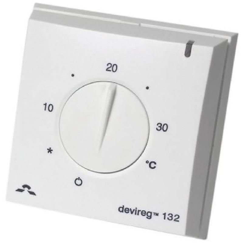 Фото - Терморегулятор Devi DEVIreg 132 140F1011 Белый терморегулятор devi devireg д 130 с датчиком пола накладной