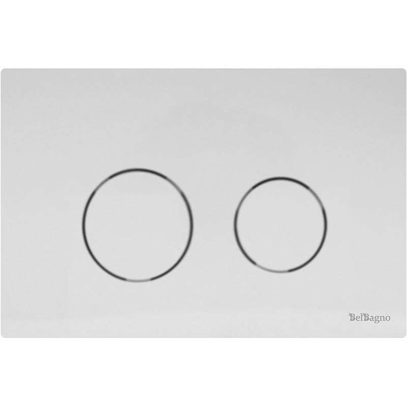 Twin BB-P57130 БелыйИнсталляции<br>Белоснежная модель BB-P57130 – клавиша смыва из линейки Twin от известной итальянской компании BelBagno. Изделие отличается прямоугольной формой корпуса и двумя круглыми кнопками белоснежного цвета.Она предназначена для установки на вертикальную поверхность. Она может использоваться с подвесными или напольными унитазами.<br>