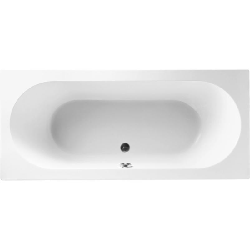 O Novo 180x80 без ножекВанны<br>Акриловая ванна Villeroy&amp;Boch; O Novo 180x80 UBA180CAS2V-01 прямоугольная, встраиваемая, с широкими бортиками, с удобными наклонами для спины с двух сторон.<br><br>Органичные плавные линии.<br>Увеличенная глубина: 50 см.<br>Цвет: альпийский белый.<br>Материал: высококачественный акрил.<br>Гладкая поверхность с превосходным сопротивлением скольжению.<br>Теплая и приятная на ощупь.<br>Быстро нагревается и долго сохраняет тепло.<br>Прочность в сочетании с малым весом.<br>Эффективное звукопоглощение.<br>Неприхотливость в уходе.<br>Расположение слива: в центре.<br>Диаметр сливного отверстия: 5,2 см.<br>Объем: 200 л.<br>Вес: 23,5 кг.<br><br><br>В комплекте поставки:<br>чаша ванны.<br><br>