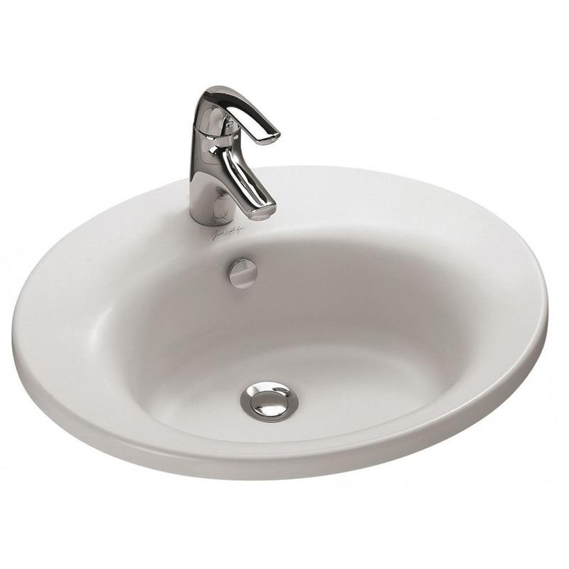 Ove 57 E1524-00 БелаяРаковины<br>Раковина Jacob Delafon Ove 57 E1524-00.<br>Изящная белоснежная раковина идеально дополнит интерьер ванной комнаты в современном стиле.<br>Изготовлена из санфарфора - гладкого и прочного материала. Качественная глазурь не впитывает грязь, устойчива к бытовым повреждениям, долго сохраняет первоначальную белизну и блеск.<br>Отсутствие углов с внутренней стороны чаши облегчают уход за раковиной.<br>Готовое отверстие под смеситель.<br>Переливное отверстие с хромированной заглушкой.<br>Монтаж: на мебель.<br>Цвет: белый.<br>В комплекте поставки: раковина, заглушка для перелива E4061.<br>