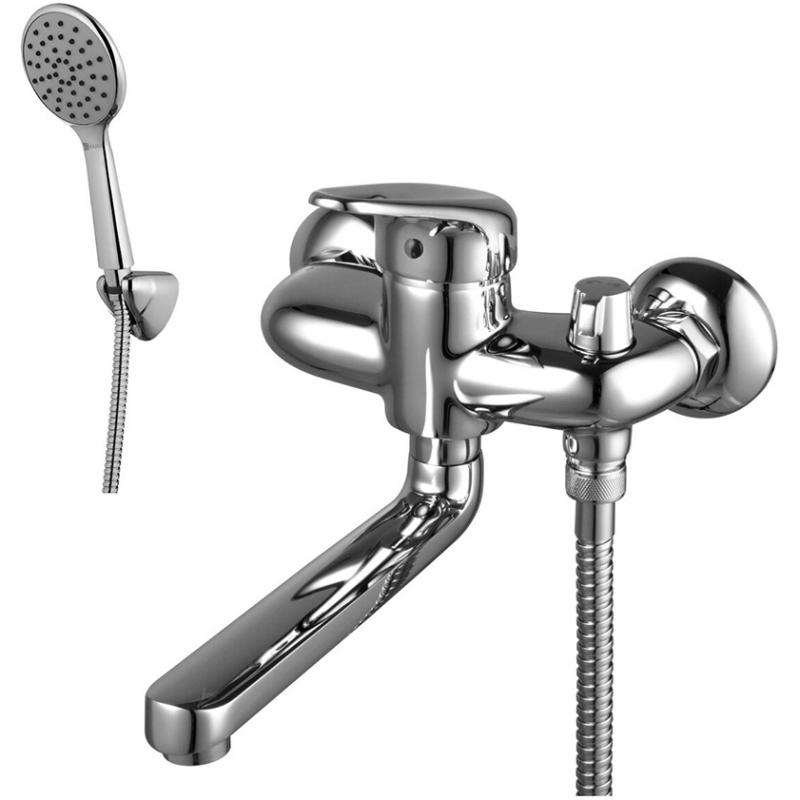 Смеситель для ванны Lemark Luna LM4114C универсальный Хром смеситель для ванной комнаты lemark luna lm4114c для ванны