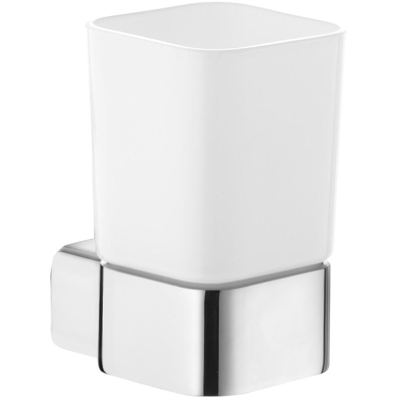 Стакан для зубных щеток Kludi E2 4997505 Хром Белый