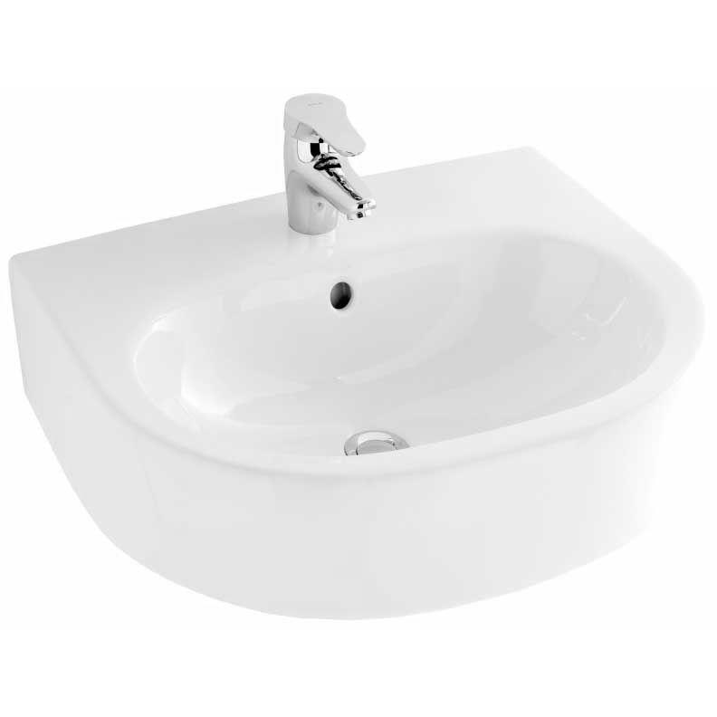 Kandel 56 E1463-00 БелаяРаковины<br>Раковина Jacob Delafon Kandel 56 E1463-00.<br>Динамичная, ультрасовременная раковина в стиле городской шик. Дополнит большинство ванных комнат с современным интерьером и покажет ваш непревзойденный вкус.<br>Изготовлена из санфарфора - гладкого и прочного материала. Качественная глазурь не впитывает грязь, устойчива к бытовым повреждениям, долго сохраняет первоначальную белизну и блеск.<br>Смягченные углы облегчает уход за раковиной.<br>Одно отверстие под смеситель.<br>Переливное отверстие.<br>Цвет: белый.<br>Монтаж: подвесная.<br>В комплекте поставки: раковина.<br>