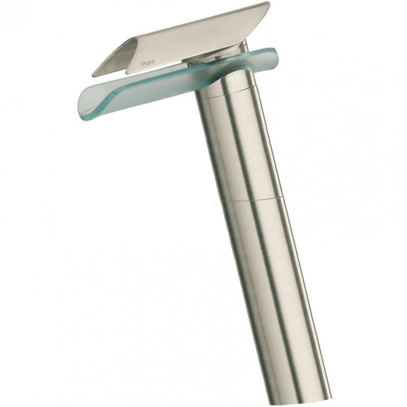 Смеситель для раковины Paini Morgana 73PW205VRLL Никель стекло смеситель paini morgana 73pw306 никель