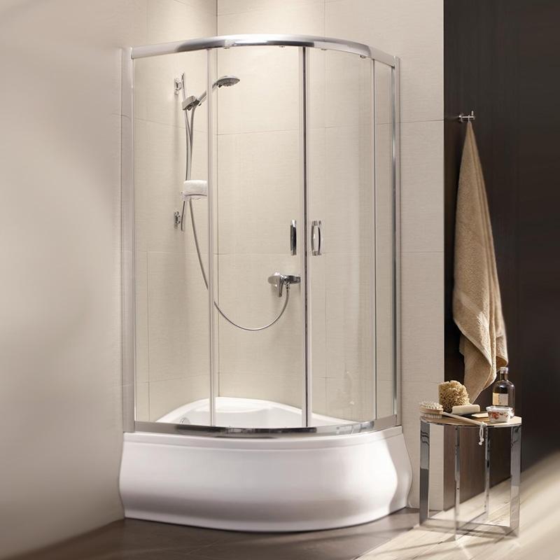 Душевой уголок Radaway Premium Plus E 1700 100x80 профиль Хром стекло Сатин душевой уголок radaway premium plus e 1700 100x80 профиль хром стекло сатин